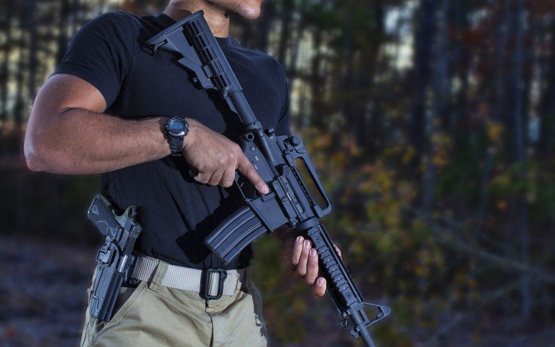 Holding an AR 15